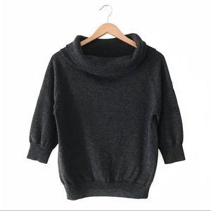 Kumikyoku Wool Cowl Neck Sweater 6 Charcoal